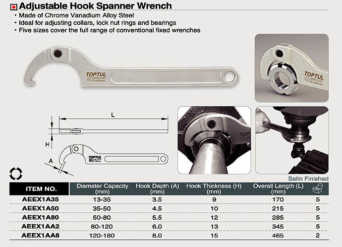 Adjustable Hook Spanner Wrench Aeex Malaysia Hardware